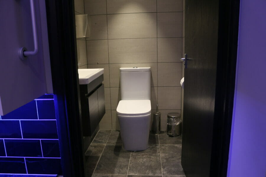 recording studio toilet facility